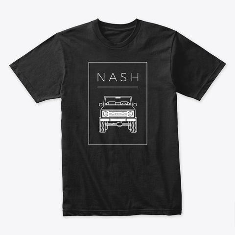 Nash Bronco Classic Black T-Shirt Front