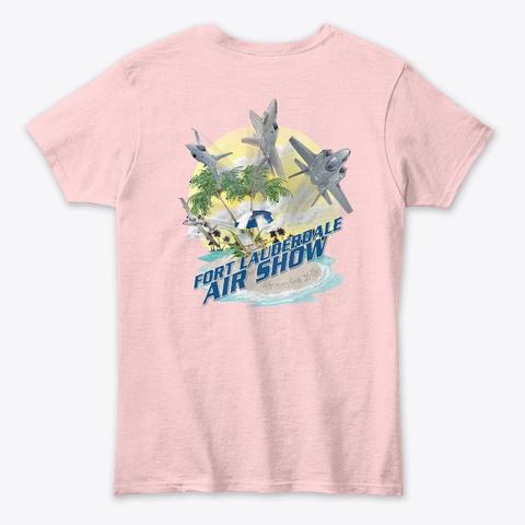 2020 Fort Lauderdale Air Show T Shirt Light Pink T-Shirt Back