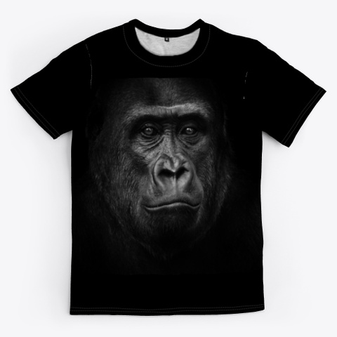 Primal Look Black T-Shirt Front