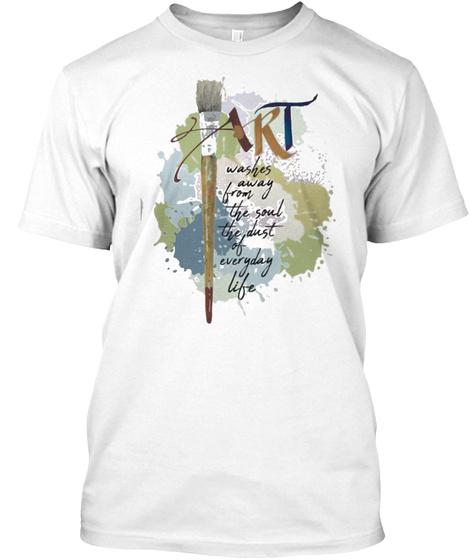 Art White T-Shirt Front