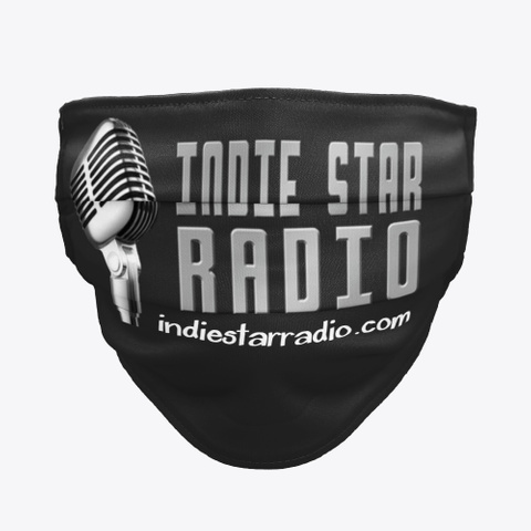 Official Indie Star Radio Face Mask Black T-Shirt Front