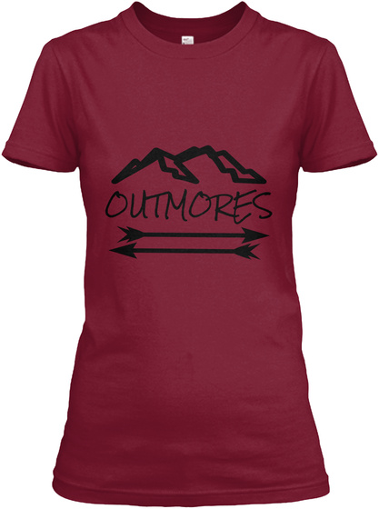 Outmores Cardinal Red T-Shirt Front