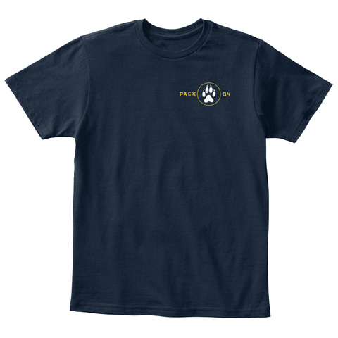 Pack B4 New Navy T-Shirt Front
