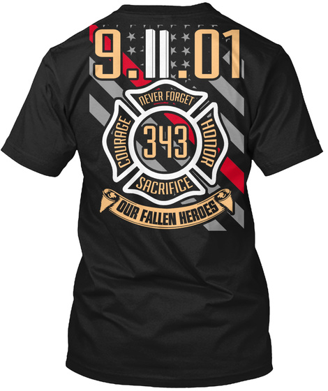 343 Never Forget USA Flag Firefighter Remembrance Luggage//Gear Bag Tag