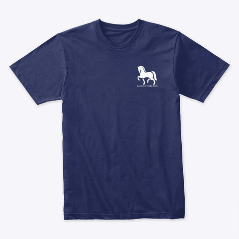 Triple Crown   White Text Midnight Navy T-Shirt Front