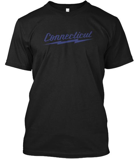 Connecticut Black T-Shirt Front