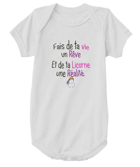 Body   Rêve Et Réalité Licorne Athletic Heather T-Shirt Front