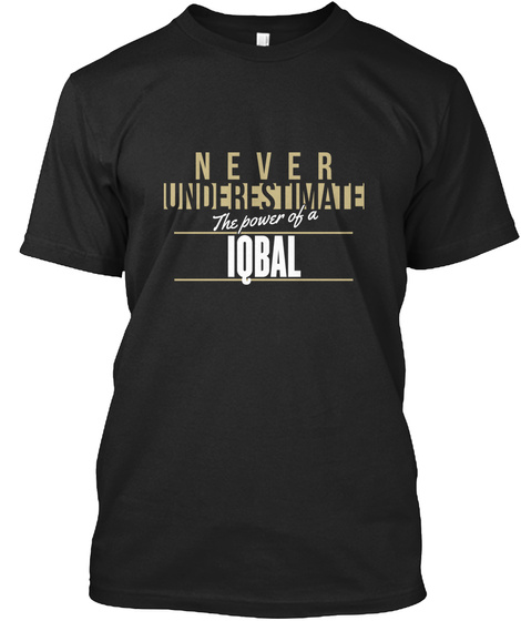 Iqbal Never Underestimate (Vintage) Black T-Shirt Front