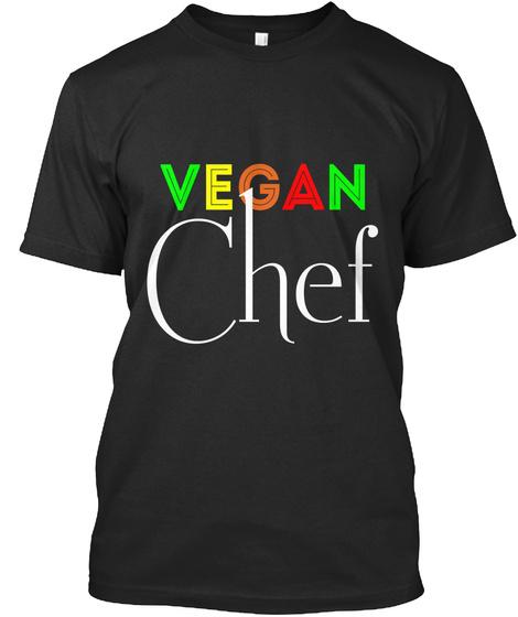 Vegan Chef Black T-Shirt Front