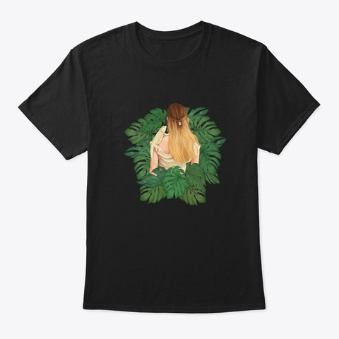 Reptilian Garden Merch Black T-Shirt Front