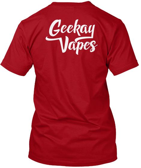 Geekay Vapes Logo Tee Deep Red T-Shirt Back