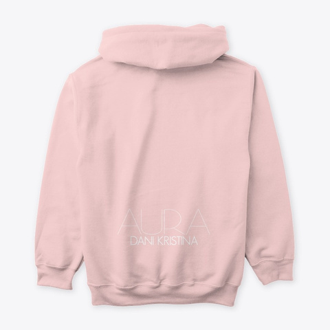 """Aura"" Hoodie Light Pink T-Shirt Back"