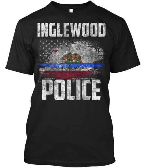 Inglewood Police Black T-Shirt Front