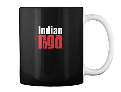 Indian Raga Black T-Shirt Back