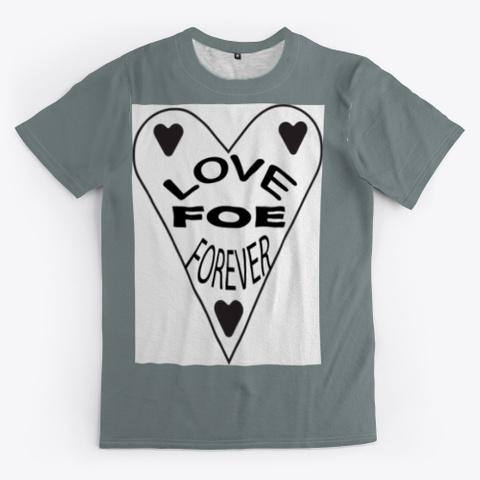 Love Medium Grey T-Shirt Front