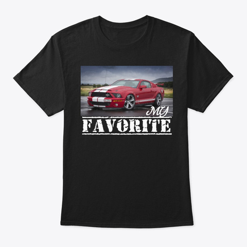 Mustang Black T-Shirt Front