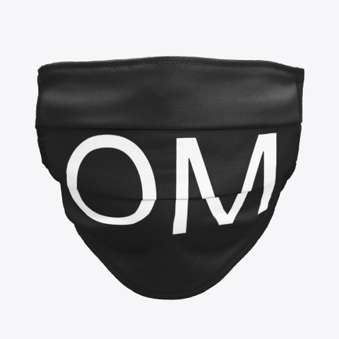 Om Black T-Shirt Front
