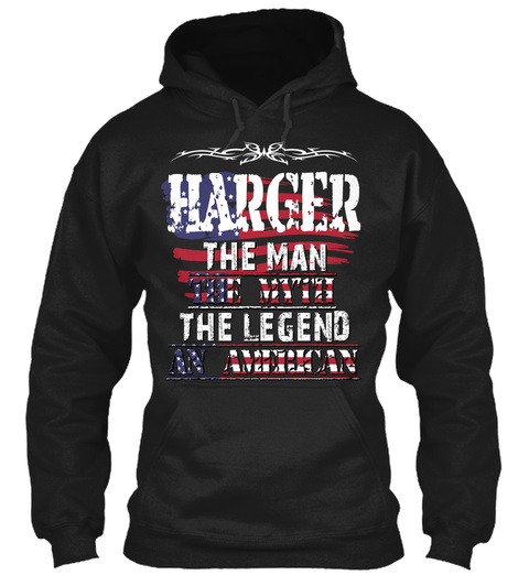 Harger  Black T-Shirt Front