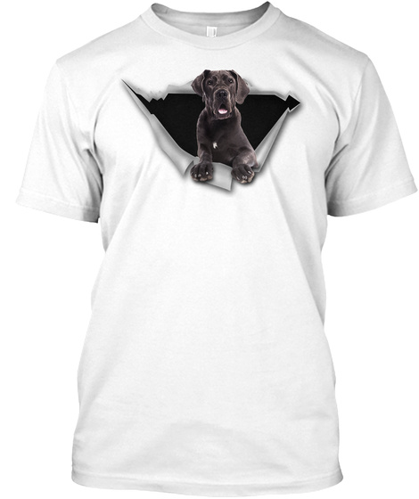 Torn   Great Dane White T-Shirt Front