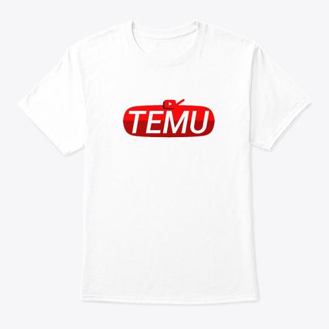 Temu Brand B White T-Shirt Front