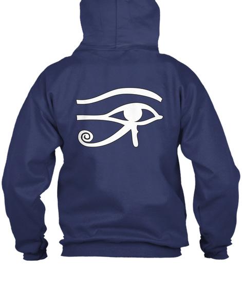 Eye Rah Egyptian Zip Hoodie Sweatshirt Navy  Sweatshirt Back