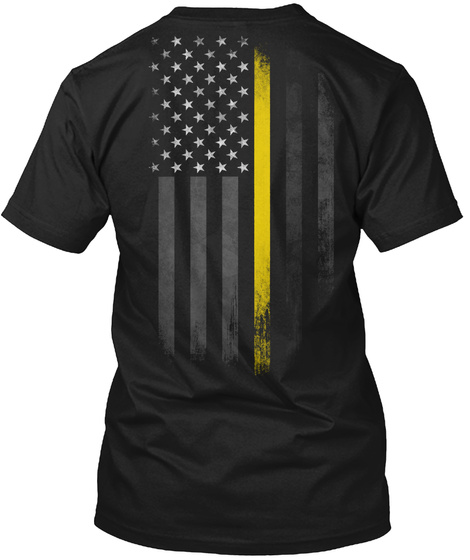 Security Logo Black T-Shirt Back