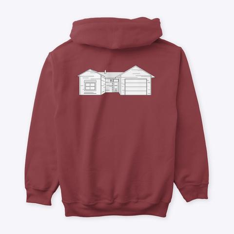 Classic Burbs Hoodie   All Colors Maroon T-Shirt Back