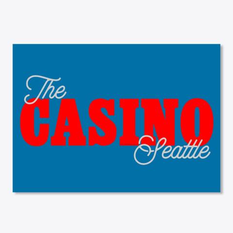 Casino Wa Royal Blue T-Shirt Front