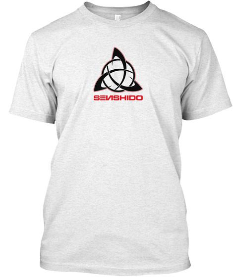Senshido Heather White T-Shirt Front