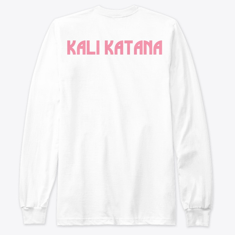 Know Yourself By Kali Katana White T-Shirt Back