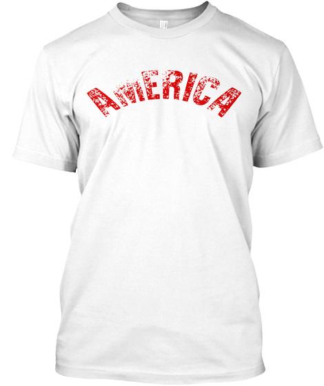 America White T-Shirt Front