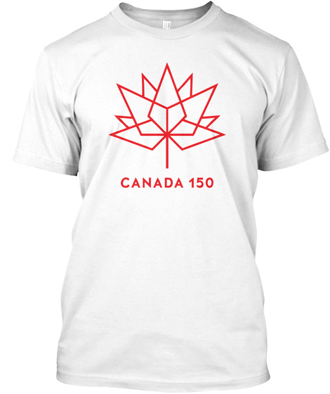 Celebrate Canada's 150th White T-Shirt Front