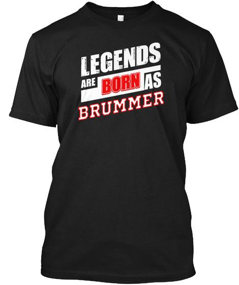 Legends Brummer Family Name Black T-Shirt Front