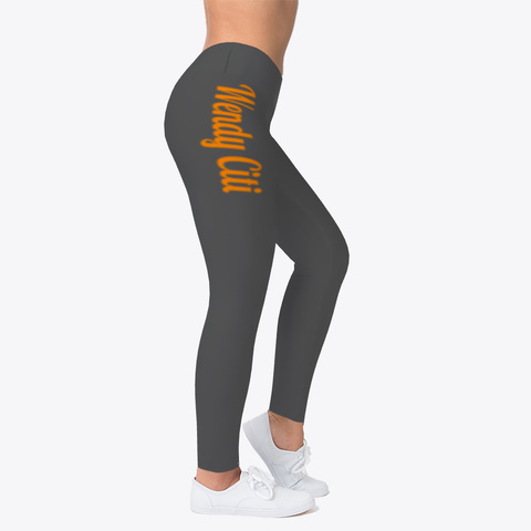 Wendy Citi (Orange Font) Leggings Charcoal T-Shirt Right