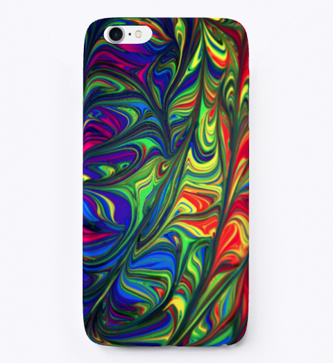 Colorful Abstract Art Design Phone Case Black T-Shirt Front