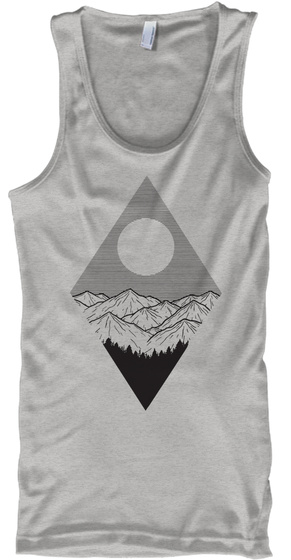 Mountains   Limited Edition Deep Heather T-Shirt Front