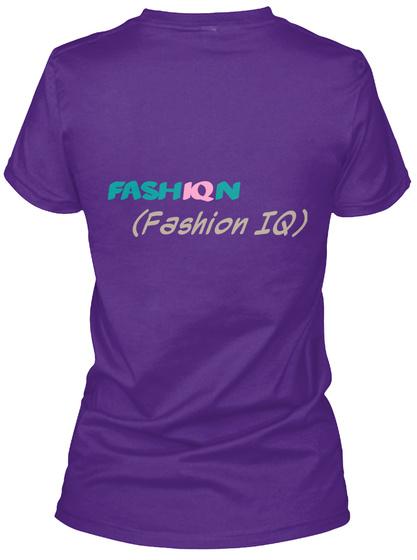 Fash Iq N (Fashion Iq) Purple T-Shirt Back