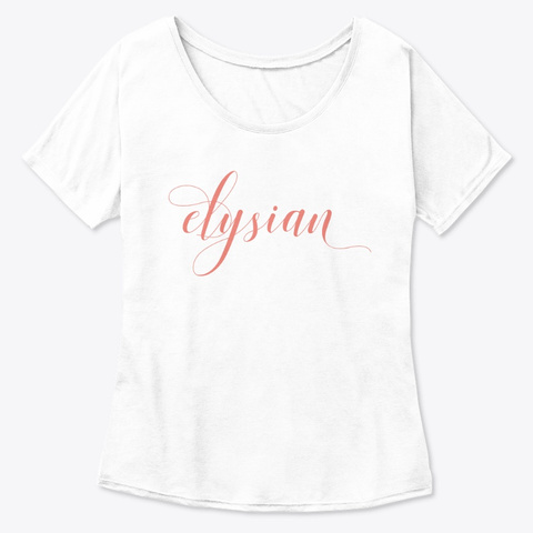 Elysian | Poetic  White  T-Shirt Front