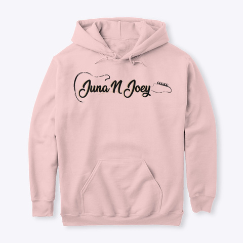 Juna N Joey Official Hoodie Light Pink Sweatshirt Front
