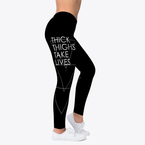 Jiu Jitsu Thick Thighs Triangles   Spats Black T-Shirt Right