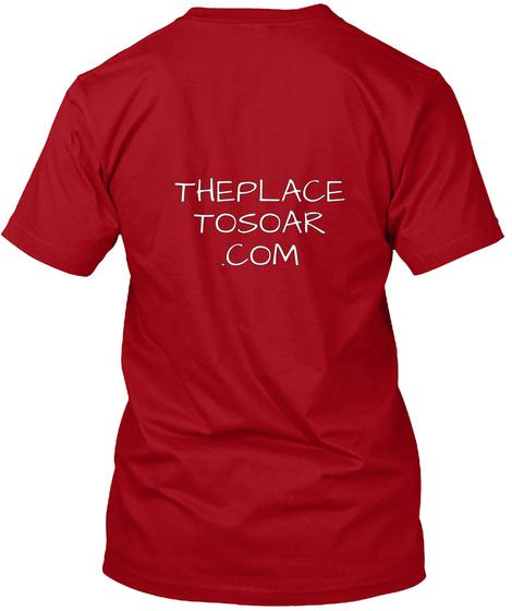 Theplace Tosoar .Com Deep Red T-Shirt Back