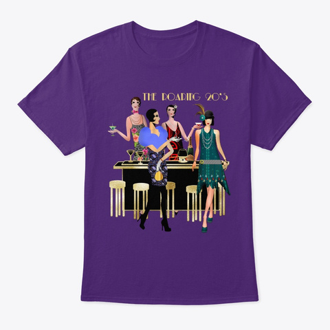 The  Roaring 20s Flappers Purple T-Shirt Front