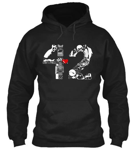 42  Black T-Shirt Front