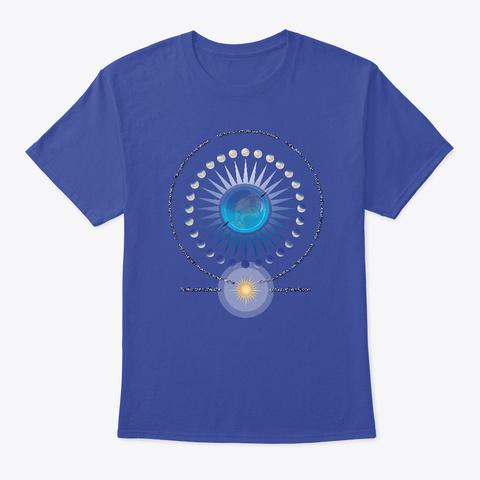 Moon Cycles Meditations Deep Royal áo T-Shirt Front