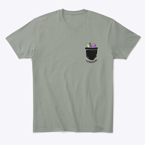 Rolled Out Of Pocket Grey T-Shirt Front
