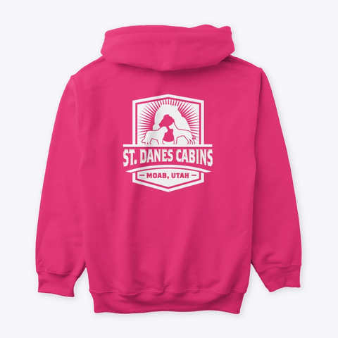 St Dane's Swag Hoodie Heliconia T-Shirt Back