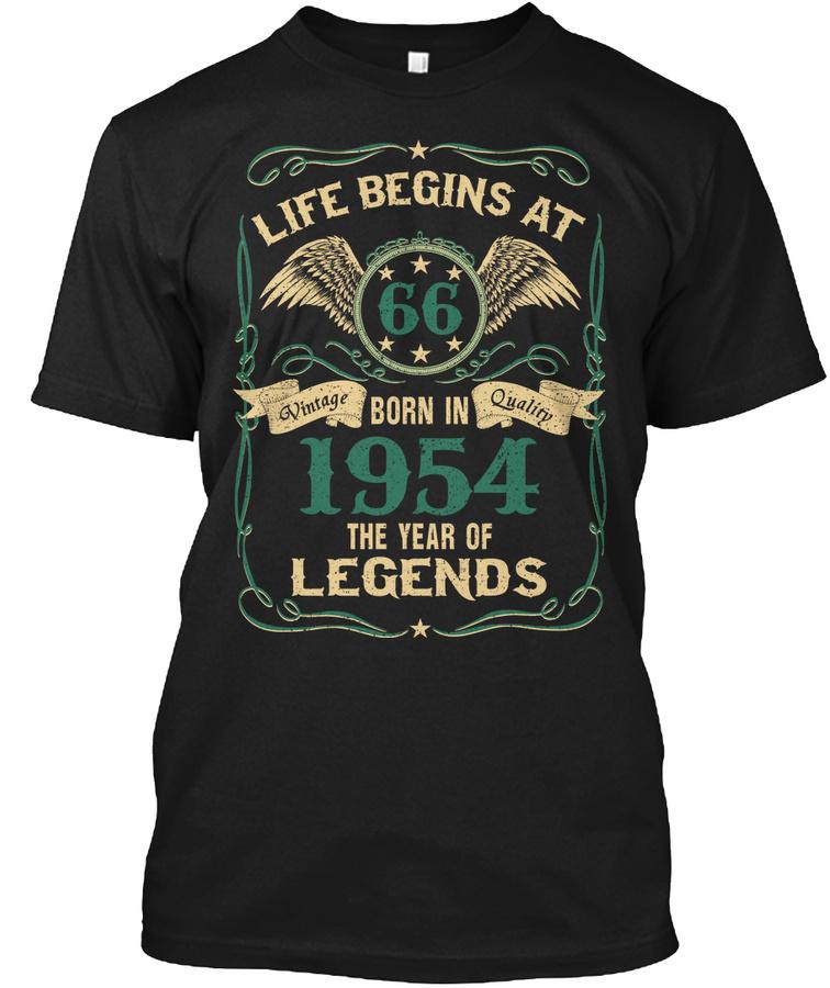 66th Birthday Shirt Born In 1954 Unisex Tshirt