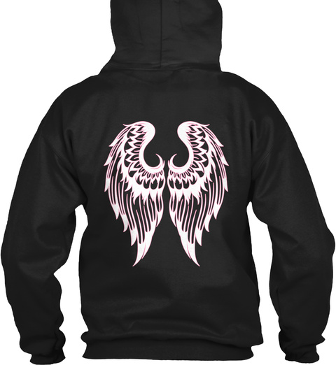 Angel Disguised As Funeral Director Black T-Shirt Back