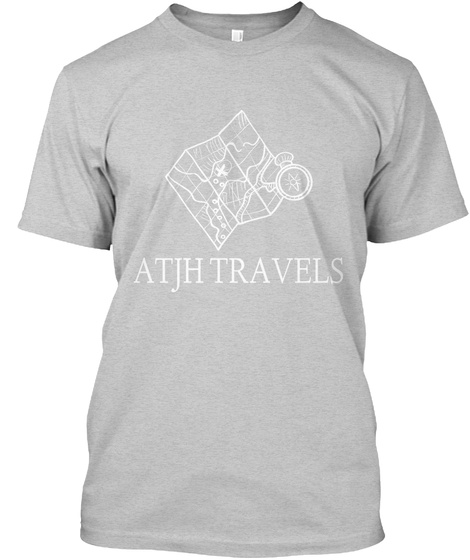 Atjh Travels Light Steel T-Shirt Front