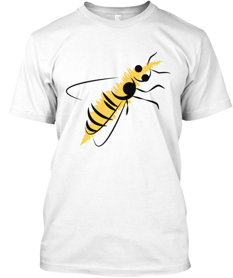 Sweet Honeybee Health Series White T-Shirt Front